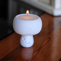 tealight3.jpg Download STL file Mushroom Tealight Holder • 3D printer design, iagoroddop