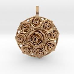 Imprimir en 3D Flower Bouquet Pendant, iagoroddop