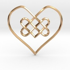 Impresiones 3D Knotty Heart Pendant, iagoroddop