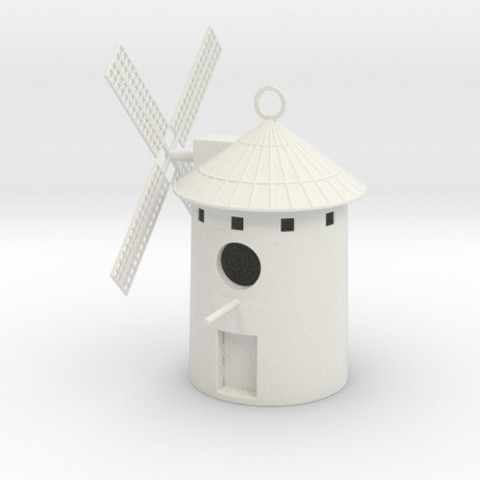 3D printing model Spanish Windmill Birdhouse, iagoroddop