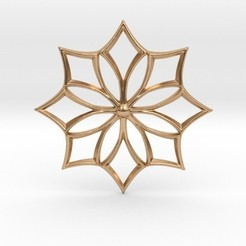 Download STL file Flower Star Pendant, iagoroddop