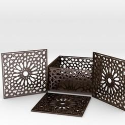 Download 3D printing models Arabesque Coasters and Holder, iagoroddop