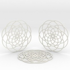 3D printer files Camellia Coasters, iagoroddop