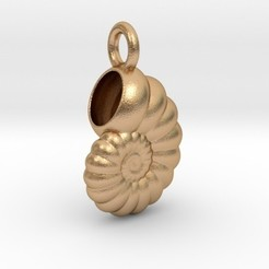 shellpendant.jpg Download STL file Shell Pendant • 3D print template, iagoroddop