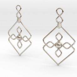 Imprimir en 3D Knots Earrings, iagoroddop