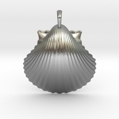 scallopshell.jpg Download STL file Scallop Shell Pendant • 3D print model, iagoroddop