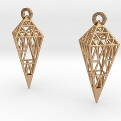 Archivos STL Sierpinski Earrings, iagoroddop