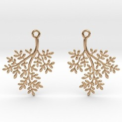 Archivos STL Ramitas Earrings, iagoroddop
