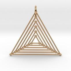 Modelos 3D para imprimir Nested Triangles Pendant, iagoroddop