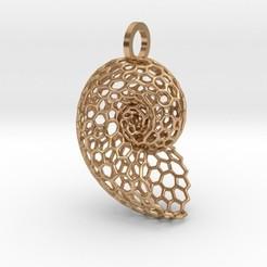 voronoishell.jpg Download STL file Voronoi Shell Pendant • 3D print template, iagoroddop