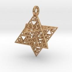 Modelos 3D para imprimir Sierpinski Merkaba Pendant, iagoroddop