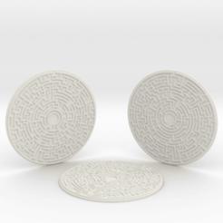 Imprimir en 3D 3 maze coasters, iagoroddop
