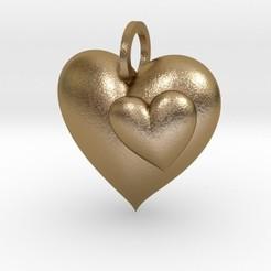 3D printing model 2 Hearts Pendant, iagoroddop