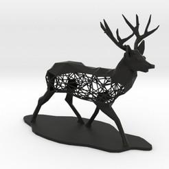 Download 3D printing designs Low Poly Semiwire Deer, iagoroddop