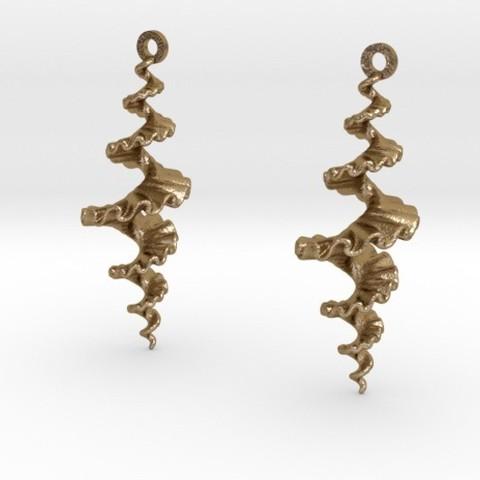 3D printing model Fractal Spiral Earrings, iagoroddop