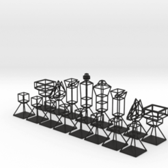 Descargar modelos 3D para imprimir Wire Minimal Chess Set, iagoroddop