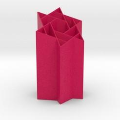 starry.jpg Download STL file Starry Penholder • 3D printer design, iagoroddop