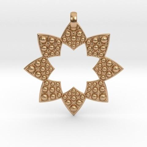 Imprimir en 3D Fractal Flower Pendant, iagoroddop