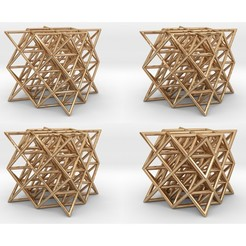 64tgpack.jpg Download STL file 64 Tetrahedron Grid Pack • 3D printing design, iagoroddop