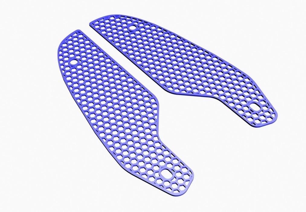 3D view front grid01.jpg Download STL file Front grille MT-09 FZ-09 2017/2018 • 3D printer model, jmmprog