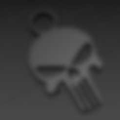 PUNISHER.STL Download free STL file Keychain - keychain • 3D print design, jmmprog