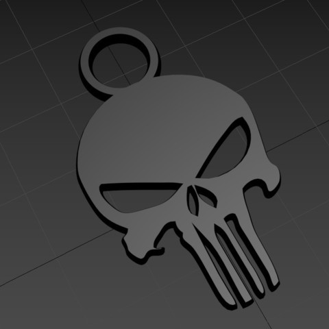 punisher02.jpg Download free STL file Keychain - keychain • 3D print design, jmmprog