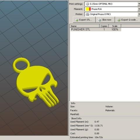 punisher03.jpg Download free STL file Keychain - keychain • 3D print design, jmmprog