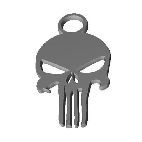 punisher01.jpg Download free STL file Keychain - keychain • 3D print design, jmmprog