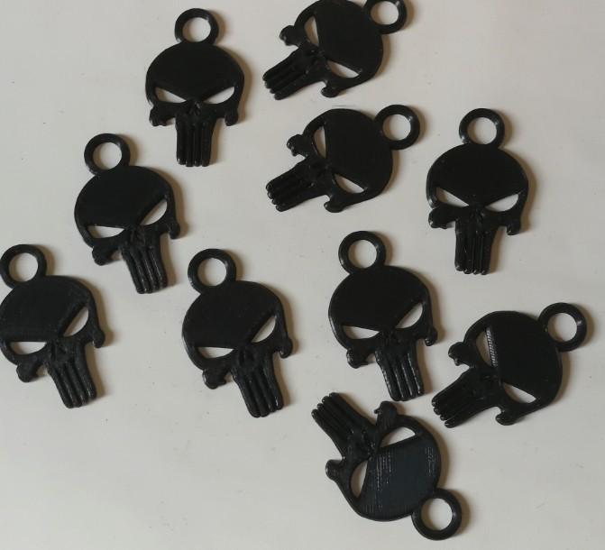 punisher05.jpg Download free STL file Keychain - keychain • 3D print design, jmmprog