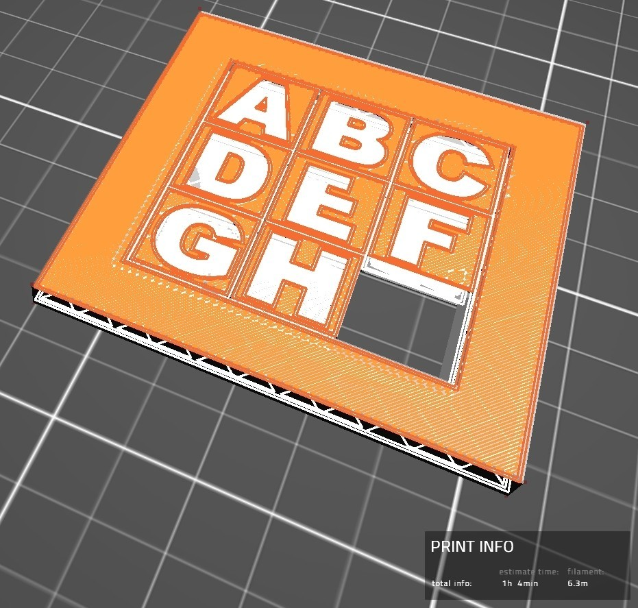 Slider puzzle01.jpg Download free STL file 3X3 sliding puzzle on two sides • 3D printer model, jmmprog