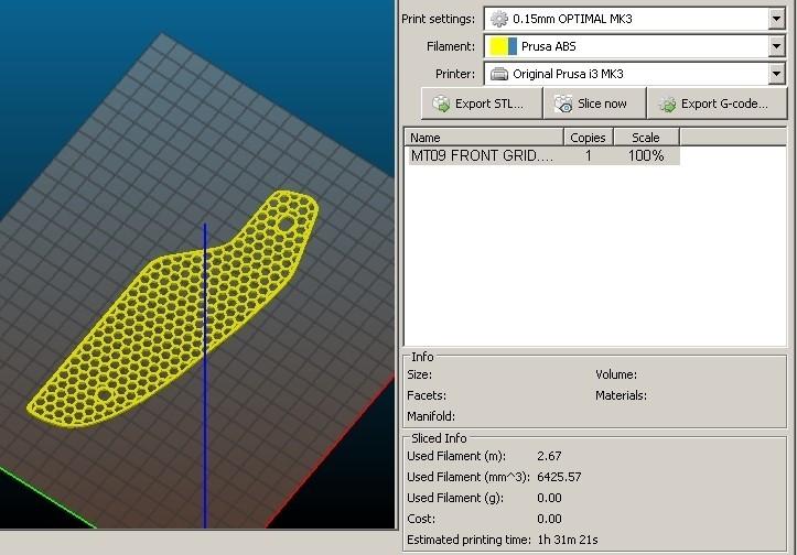 3D view front grid05.jpg Download STL file Front grille MT-09 FZ-09 2017/2018 • 3D printer model, jmmprog
