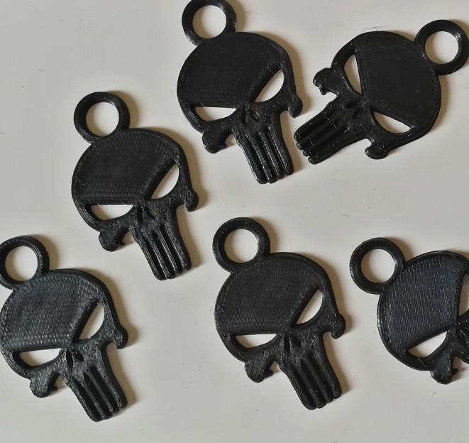 punisher06.jpg Download free STL file Keychain - keychain • 3D print design, jmmprog