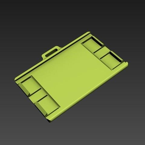 portebadge03.jpg Download STL file Security badge holder for identification cards - Secure Badgeholder for card identification • 3D printable model, jmmprog