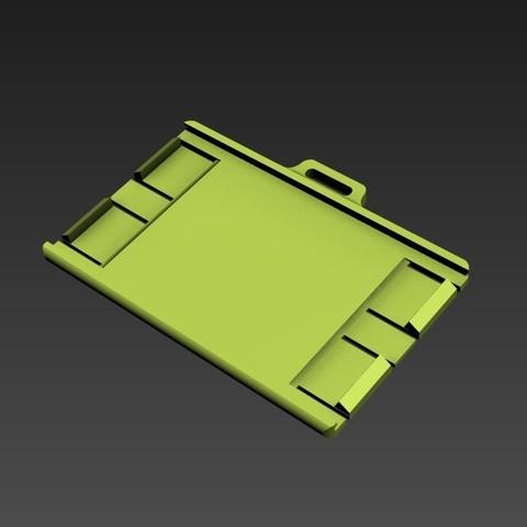 portebadge02.jpg Download STL file Security badge holder for identification cards - Secure Badgeholder for card identification • 3D printable model, jmmprog