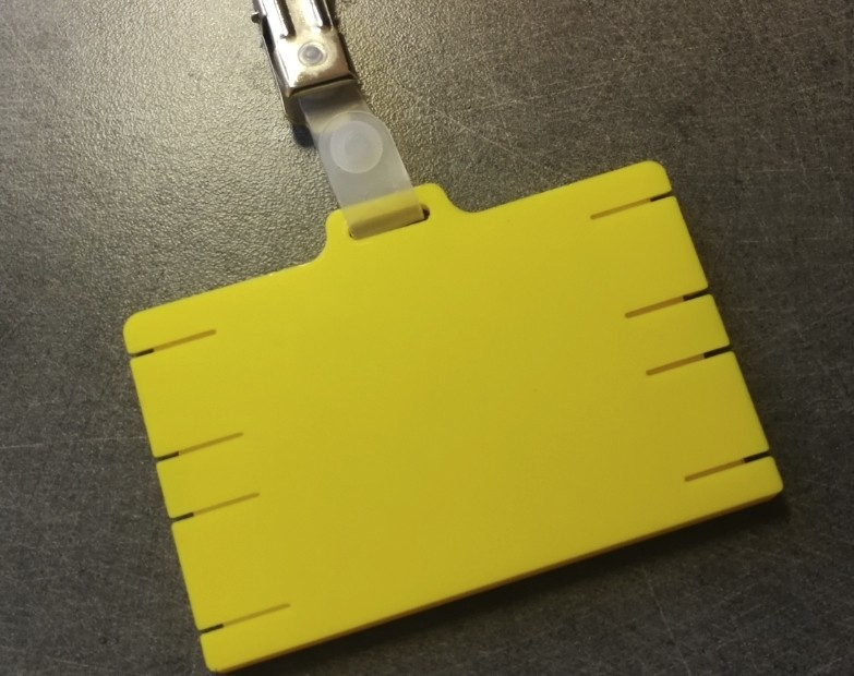 portebadge06.jpg Download STL file Security badge holder for identification cards - Secure Badgeholder for card identification • 3D printable model, jmmprog