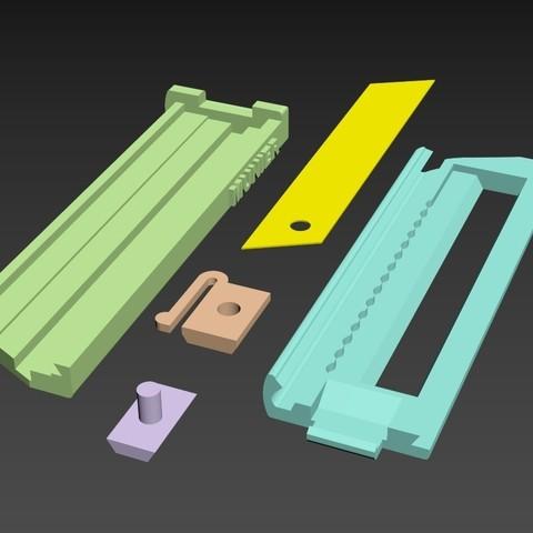 SCREENSHOT003.jpg Download free STL file Cutter - retractable blade knives - Cutter Retractable Knife • 3D printer template, jmmprog