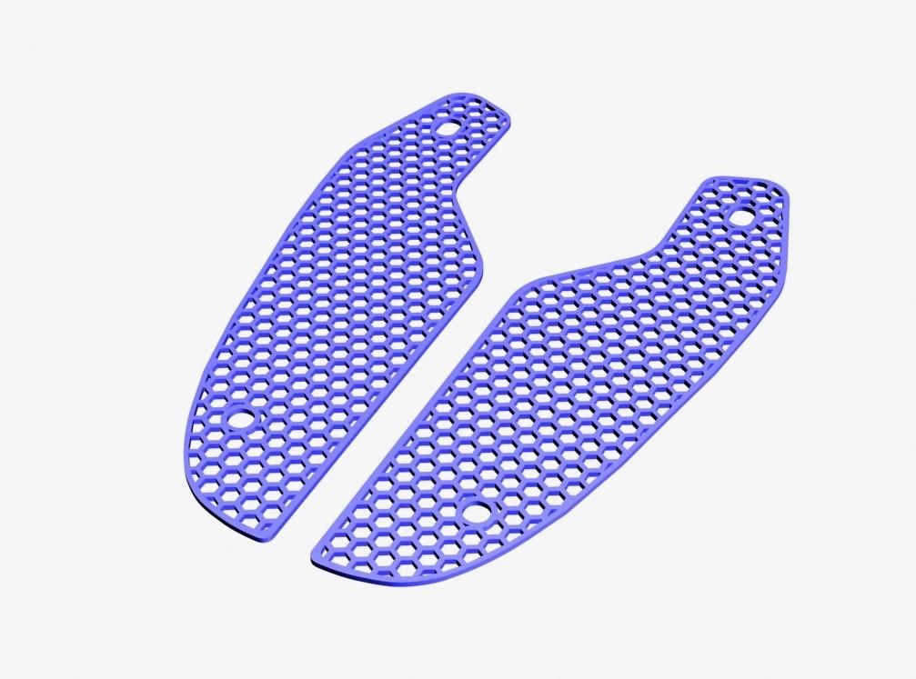 3D view front grid02.jpg Download STL file Front grille MT-09 FZ-09 2017/2018 • 3D printer model, jmmprog