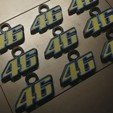 Download free 3D printer templates Key ring number 46 for MotoGP fans. Keychain 46 for Motogp fan., jmmprog