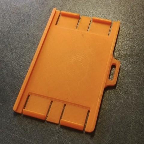 3D printer models Security badge holder for identification cards - Secure Badgeholder for card identification, jmmprog