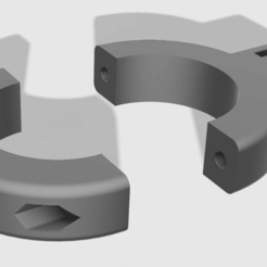 gopro_fork_mount_v5.png Download free STL file GoPro 41mm fork mount • Object to 3D print, gosma