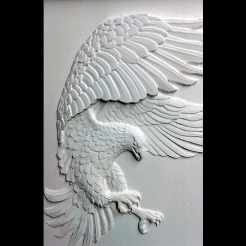 3D printing eagle 3d stl relief model ・ Cults