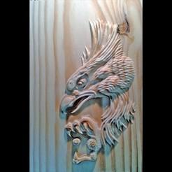 Imprimir en 3D gratis águila modelo 3d de bajorrelieve para cnc, tpsimer