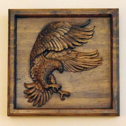 Free 3D model eagle 3d stl relief model, tpsimer