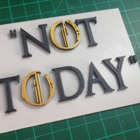 "Download free 3D model Game of thrones ""NOT TODAY"", YEHIA"
