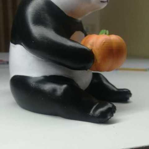 8fdb0e735244671eefa77284e97410e9_display_large.jpg Download free STL file the cute pumpkin panda • 3D printable object, YEHIA