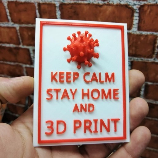 Download Free STL Files STAY HOME AND 3D PRINT ・ Cults