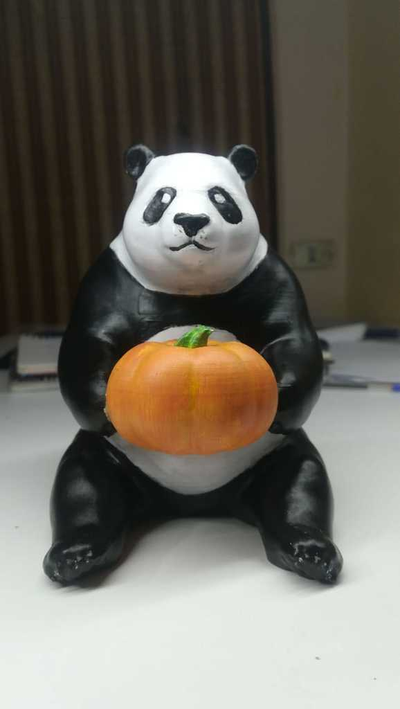 57afb46f4836920b00d611667fcae8b9_display_large.jpg Download free STL file the cute pumpkin panda • 3D printable object, YEHIA