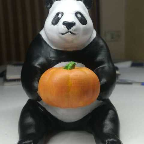 Télécharger fichier imprimante 3D gratuit le mignon panda à la citrouille, YEHIA