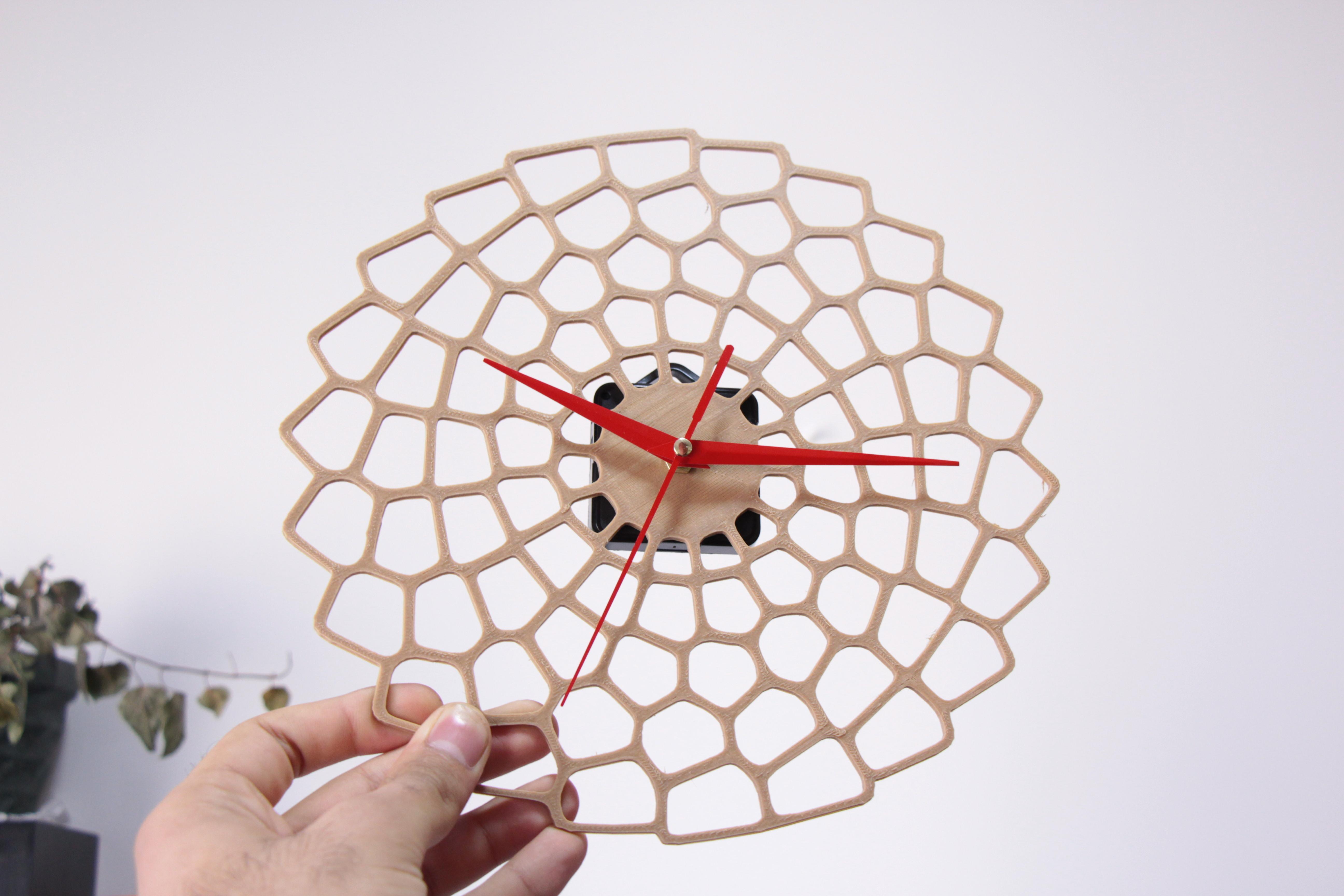 IMG_9904.JPG Download STL file Wall art Clock • 3D printable model, YEHIA