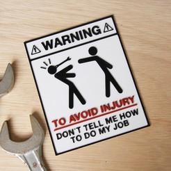 IMG_8887.jpg Download free STL file Warning sign • 3D printer template, YEHIA